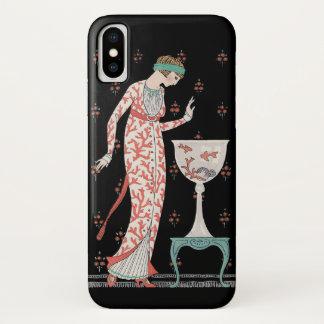 Art Deco George Barbier Goldfish iPhone X Case