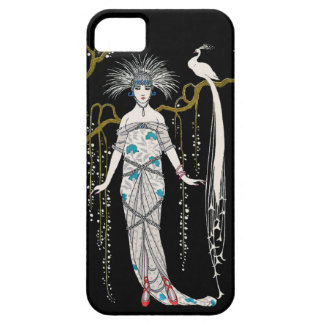 Art Deco George Barbier Peacock iPhone 5 Case