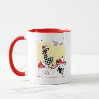 Art Deco Girl and Scotty Dog Mug
