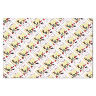 Art Deco Girl and Scotty Dog Tissue Paper