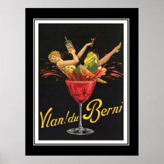 Art Deco Girl in Glass Vintage Poster