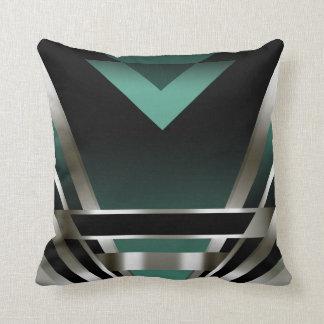 Art Deco Glam Nouveau | teal Throw Pillow