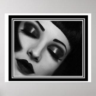 "Art Deco ""Glamour Girl"" Poster 16 x 20"