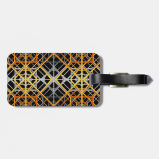 Art Deco Gold and Silver Luggage Tag