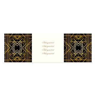art deco,gold,black,vintage,retro,elegant,chic,tre pack of skinny business cards