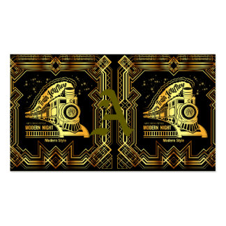 art deco,gold,black,vintage,retro,elegant,chic,tre pack of standard business cards