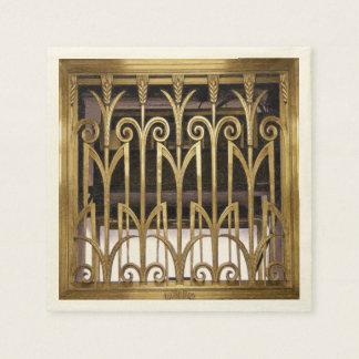 Art Deco Gold Disposable Serviette