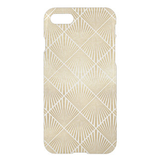 Art Deco Gold Elegant Fan Diamond Pattern Clear iPhone 8/7 Case