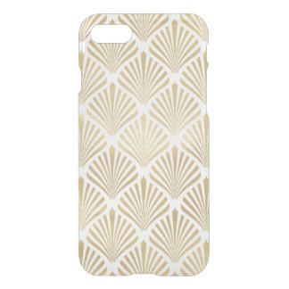 Art Deco Gold Elegant Fans Pattern Clear iPhone 8/7 Case