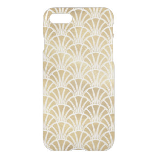 Art Deco Gold Elegant Fans Pattern Monogram iPhone 8/7 Case