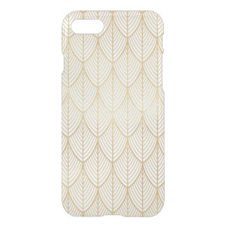 Art Deco Gold Elegant Scales Scallop Pattern Clear iPhone 8/7 Case
