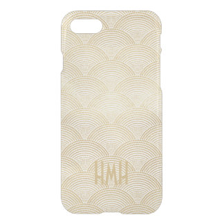 Art Deco Gold Fan Scallop Pattern Monogram iPhone 8/7 Case