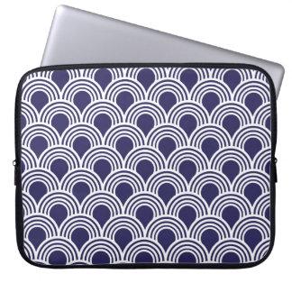 Art Deco Great Gatsby Style Mod Shell Pattern Laptop Sleeve