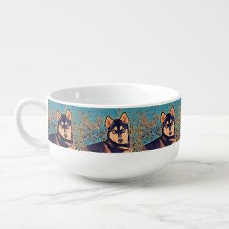 Art Deco Husky Soup Mug