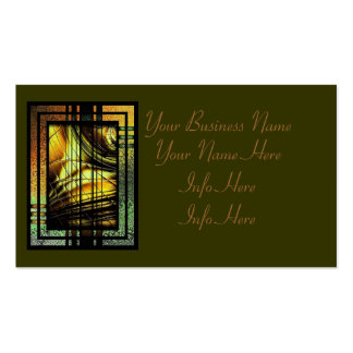 Art Deco In Green And Gold Business Card