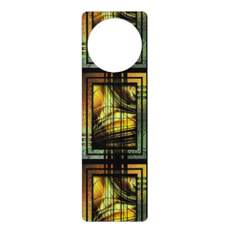 Art Deco In Green And Gold Door Hanger