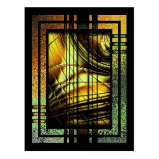 Art Deco In Green And Gold Postcard