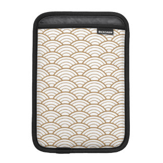 art deco,japanese fan pattern, gold,white,vintage, iPad mini sleeve