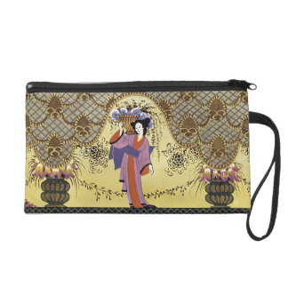 Art Deco Japanese Lady Wristlet