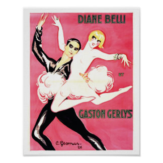Art Deco Jazz Age Dance Couple Poster