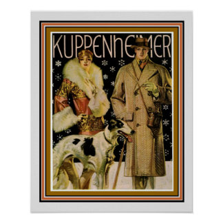 Art Deco Kuppenheimer Ad Poster 16 x 20