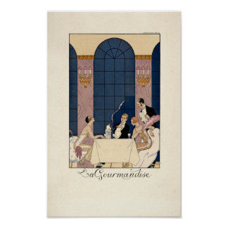 "Art Deco ""La Gourmandise"" by George Barbier Poster"