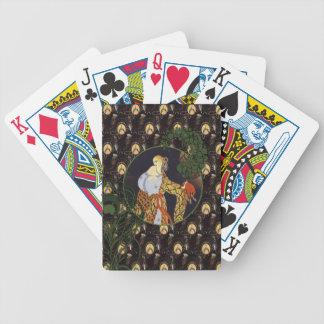 Art Deco ladies Bicycle® Poker Playing Cards
