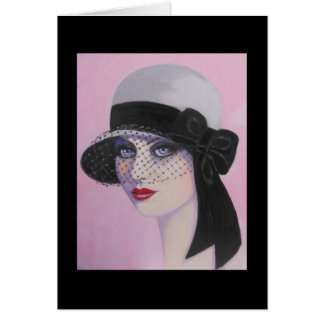 Art Deco, Lady of Elegance, note card