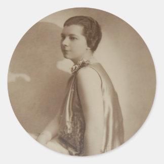 Art Deco Lady Shadow Photo Sticker