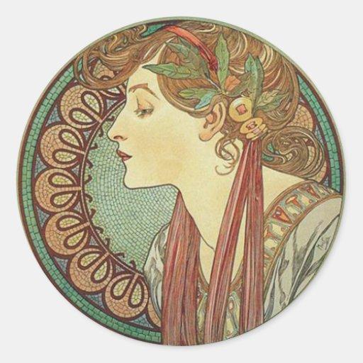 Art Deco Lady Stickers