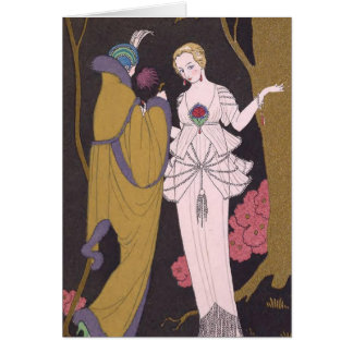 Art Deco Lady – Two ladies on the forest. Card