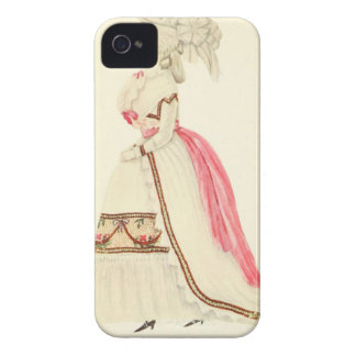 Art Deco Lady – Wearing beautiful gown. iPhone 4 Case-Mate Cases
