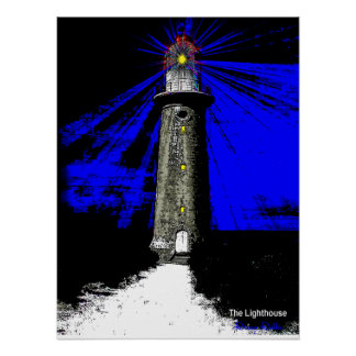 Art Deco Lighthouse Poster