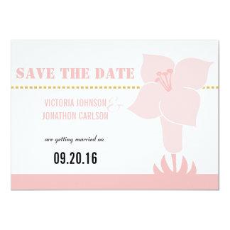 Art Deco Lily Modern Typography Wedding Invite