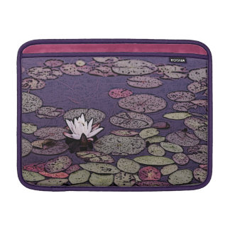 art deco lily pond macbook sleeve