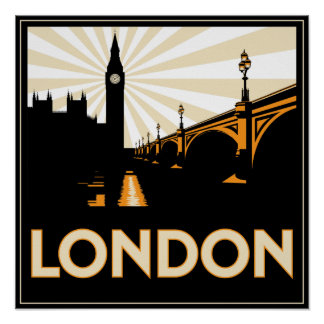 Art Deco London Poster