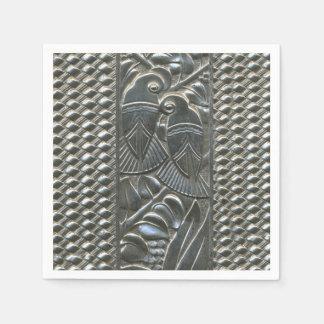 Art Deco Love Birds Paper Napkin