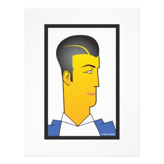 Art Deco Man Full Color Flyer