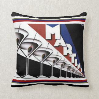 Art Deco Martini Throw Pillow