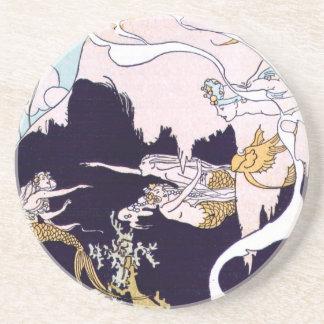 Art Deco Mermaids Coaster