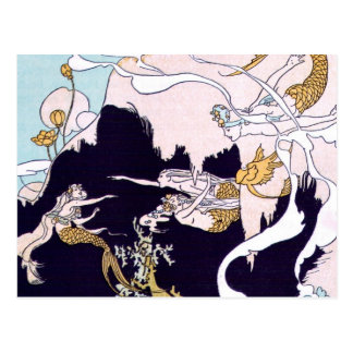 Art Deco Mermaids Postcard