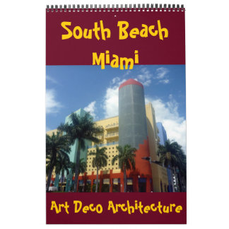 art deco miami florida 2018 wall calendars