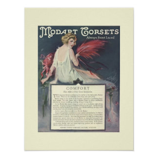 Art Deco Modart Corsets Poster