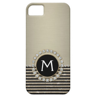 Art Deco Modern Horizontal Stripe Glitter Look iPhone 5 Covers