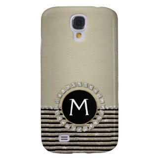 Art Deco Modern Horizontal Stripe Glitter Look Samsung Galaxy S4 Case