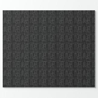 Art Deco Monochrome Wrapping Paper