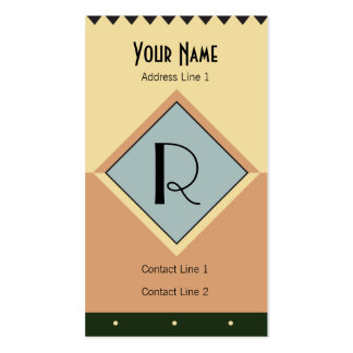 Art Deco Monogram Business Card