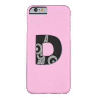 art deco monogram - D Barely There iPhone 6 Case