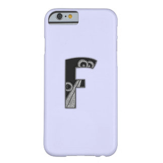art deco monogram - F Barely There iPhone 6 Case