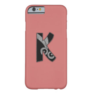 art deco monogram - K Barely There iPhone 6 Case